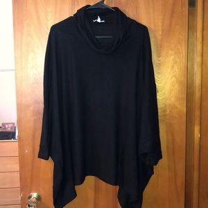 Maurice's Black Poncho Sweater
